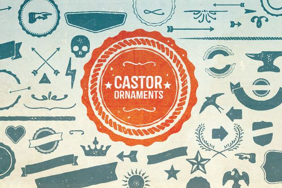 Castor Ornaments by Albatross on Creative Market