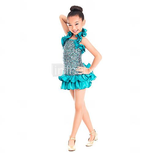 Kinderdanskleding Jurken Dames / Kinderen Opleiding Matte Satijn / Lycra Kralen / Pailletten Groen Moderne Dans / JazzVoorjaar / Zomer / 1441309 2016 – €44.09