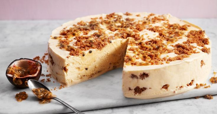 Frozen chesecake med mango och passion