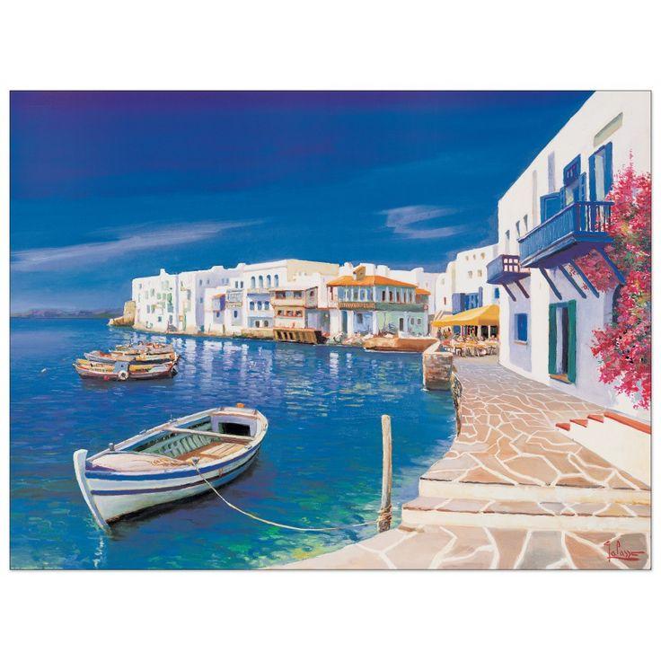 Galasso - Porticciolo Greco 80x60 cm #artprints #interior #design #art #prints  Scopri Descrizione e Prezzo http://www.artopweb.com/categorie/panorami-e-citta/EC22035