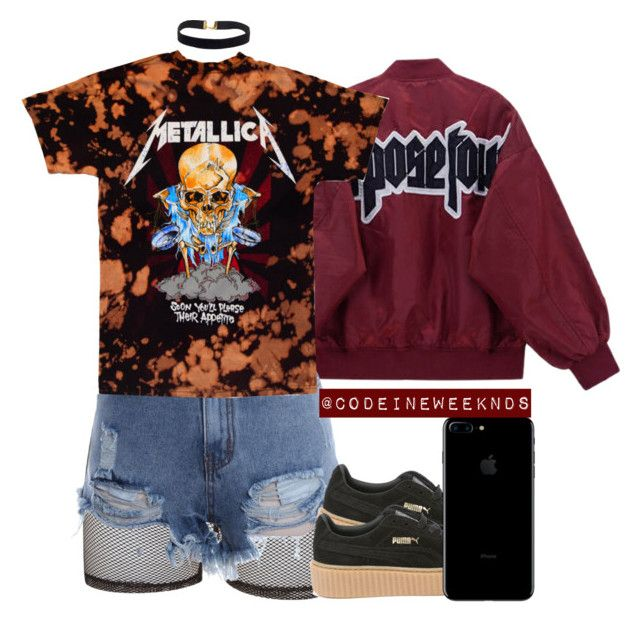 """11/10/16"" by codeineweeknds ❤ liked on Polyvore featuring Bitching & Junkfood and Puma"