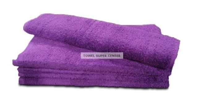 100% Cotton Purple Wholesale Bleach Resistant Hand Towels