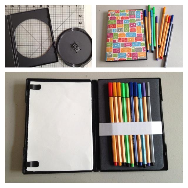 DVD case to paper & marker holder.