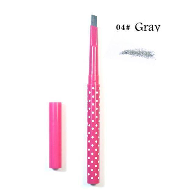 1pc Eyebrow Pencil Waterproof Durable Automaric Eye Brow Liner+3 Eyebrow Shaping
