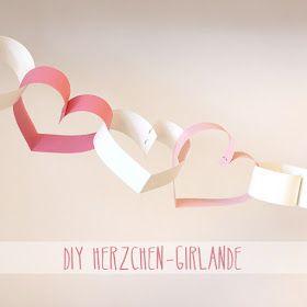 DIY: Herzchen-Girlande
