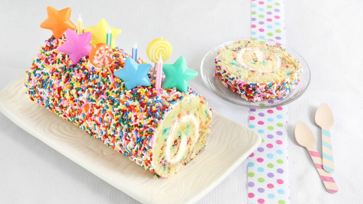 Festive in appearance and deceptively easy to make, this sprinkle-coated cake roll belongs on your summer-baking bucket list.