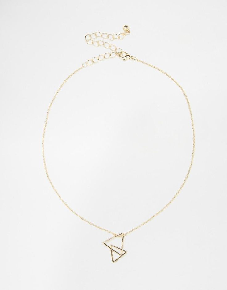 ASOS   ASOS Open Triangle Choker Necklace at ASOS