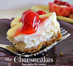 Mini Cheesecakes - Lady Behind the Curtain