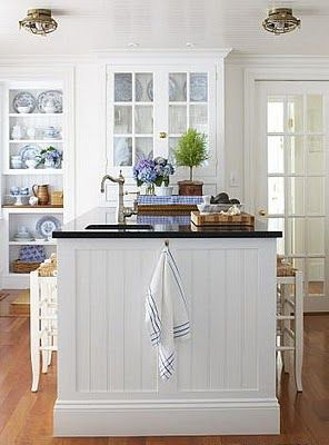 Color Outside the Lines: Kitchen Inspiration Month: Day Six - Beadboard Backsplash