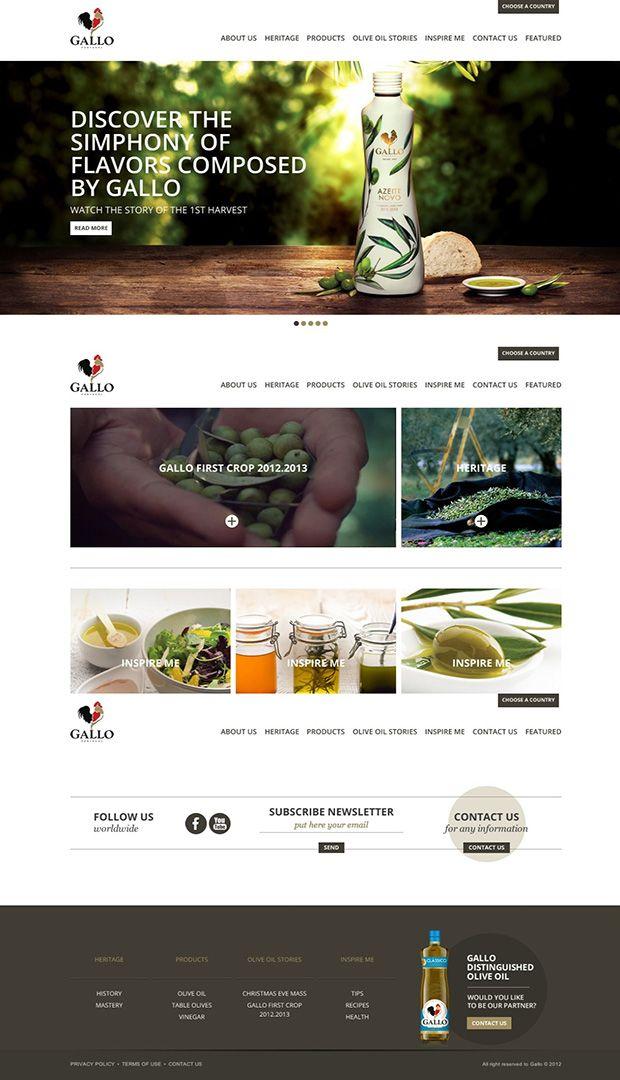 gallo website design (TBH)
