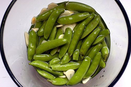 Pickled sugar snap peas. This would be great with green beans from the ...