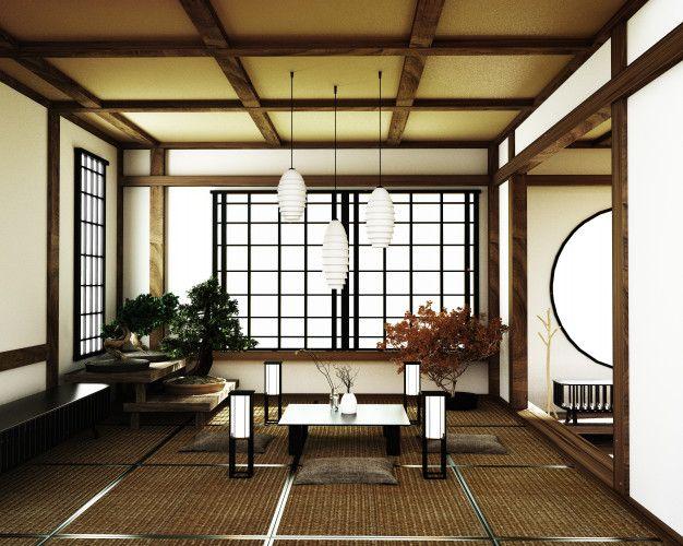 Japanese Room Kyoto Zen Style 3d Rendering In 2020 Japanese