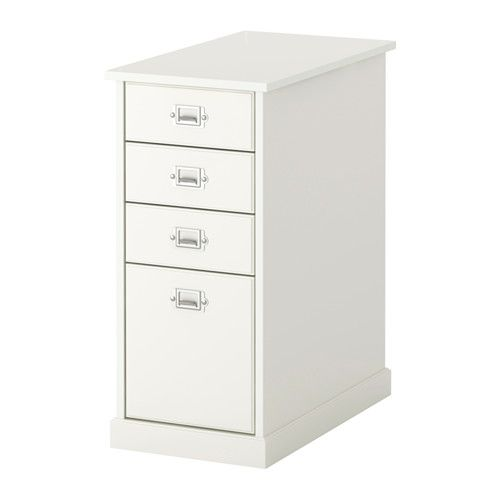 IKEA - KLIMPEN, Drawer unit, white, , Can be placed anywhere in the room because the back is finished.Drawer stops prevent the drawers…