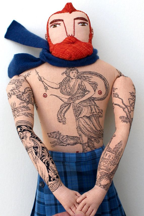 Reserved for jorlandikeenan Red-haired Tattooed Man in a