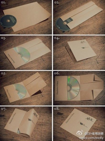 CD packaging - DIY envelope #carepackage #gift #mail