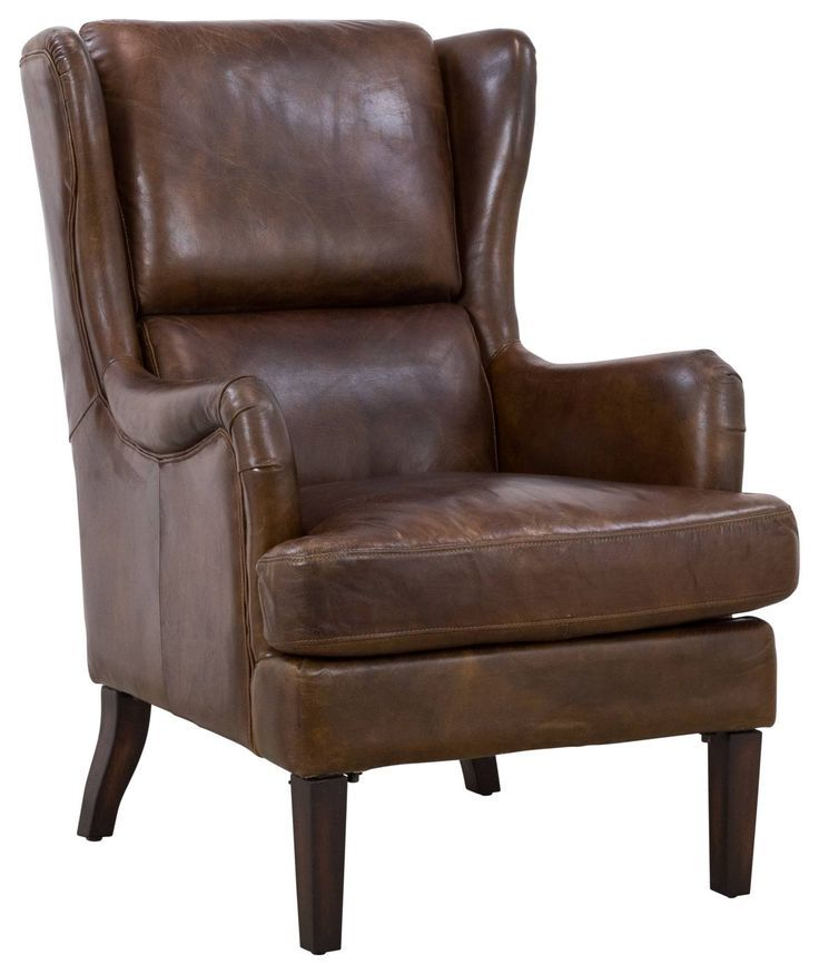 Barbro Leather Armchair Vintage Cigar In 2020 With Images