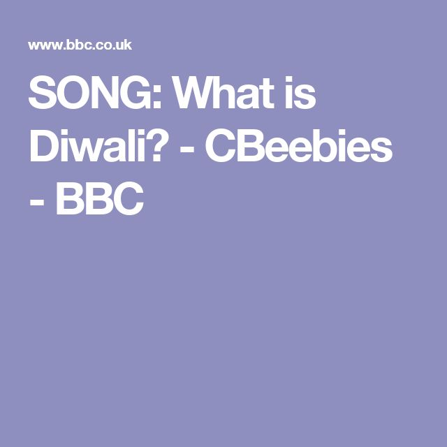 SONG: What is Diwali? - CBeebies - BBC