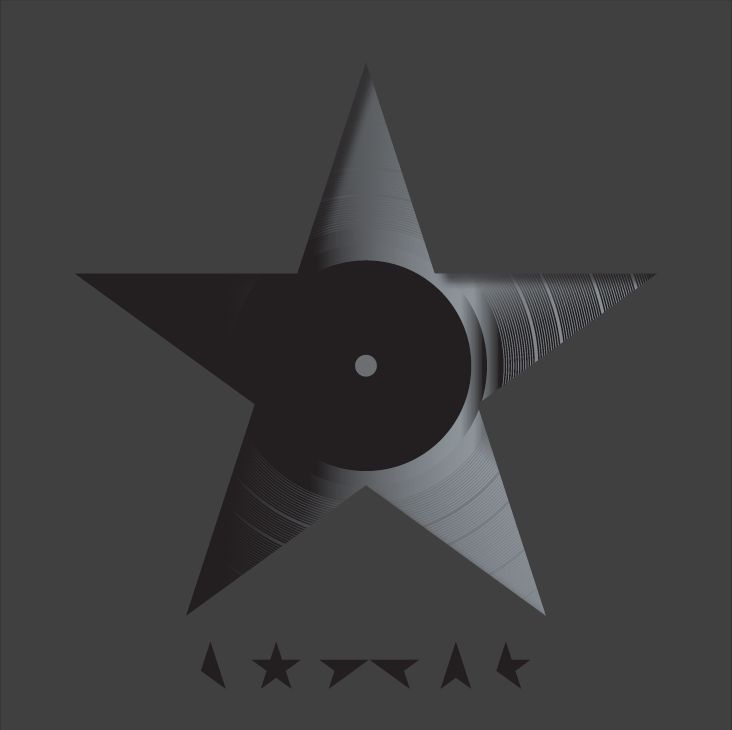 "Jonathan Barnbrook's artwork for David Bowie album Blackstar. Barnbrook says Bowie was ""very closely involved"" in the process. ""There is a lot of discussion about the concepts behind the songs and the artwork. In this instance we met and listened to the album together in New York and started to bounce ideas off each other, and it developed from that. This process takes about three months of intense emailing,"" he explains"