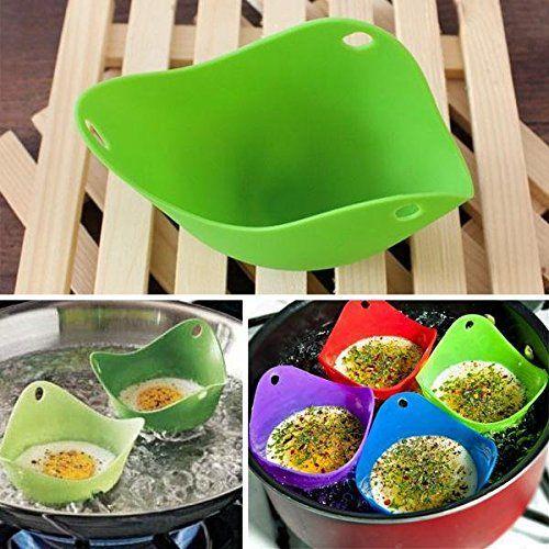 4Pcs/lot Grade Silicone Egg Poacher Poaching Pods Pan Mould Kitchen Cooking Tools Accessories Cocina Gadget Accesorios De Cocina >>> For more information, visit image link.