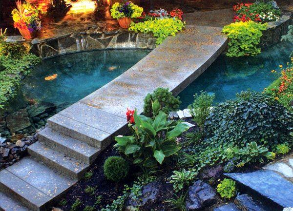 166 best koi pond images on pinterest backyard ponds for Pool pond for koi