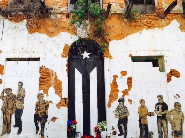 La Puerta-Bandera Puertorriqueña Pintada | AUTOGIRO/el giro del ...