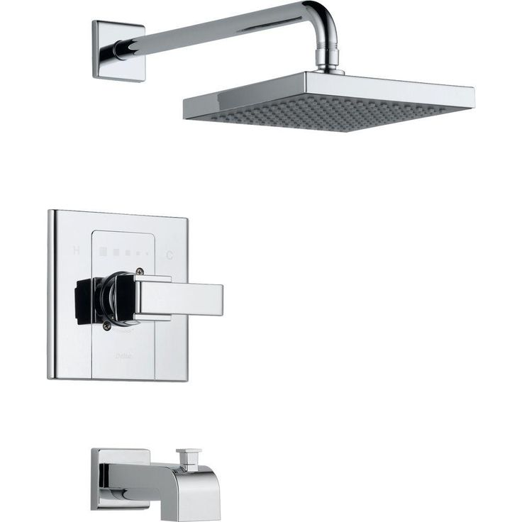 Delta Arzo 1Handle 1Spray Tub and Shower Faucet Trim Kit