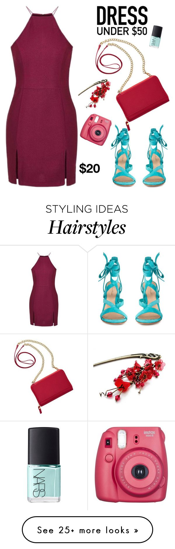 """""""Dress Under $50"""" by yinggao on Polyvore featuring Topshop, TravelSmith, Gianvito Rossi, NARS Cosmetics, Summer and Dressunder50"""
