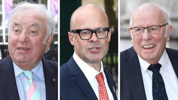 Jimmy Tarbuck, Harry Hill and Richard Wilson
