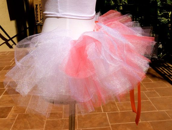 Hey, I found this really awesome Etsy listing at https://www.etsy.com/listing/200678505/coral-and-white-half-tutu-bachelorette
