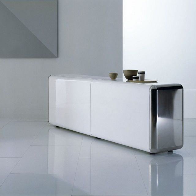 Contemporary Sideboard By Acerbis   Superego Sideboard With Slow Motion  Effect