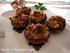 Cappelle di Champignon ripiene http://blog.giallozafferano.it/graficareincucina/cappelle-di-champignon-ripiene/