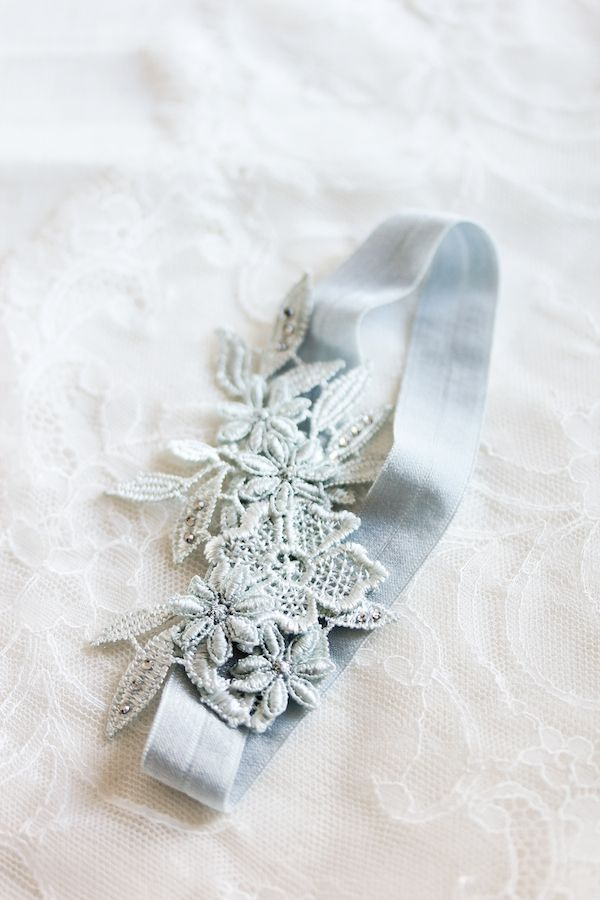 "Beneath the Layers | ""Something Blue"" lace wedding garter set"