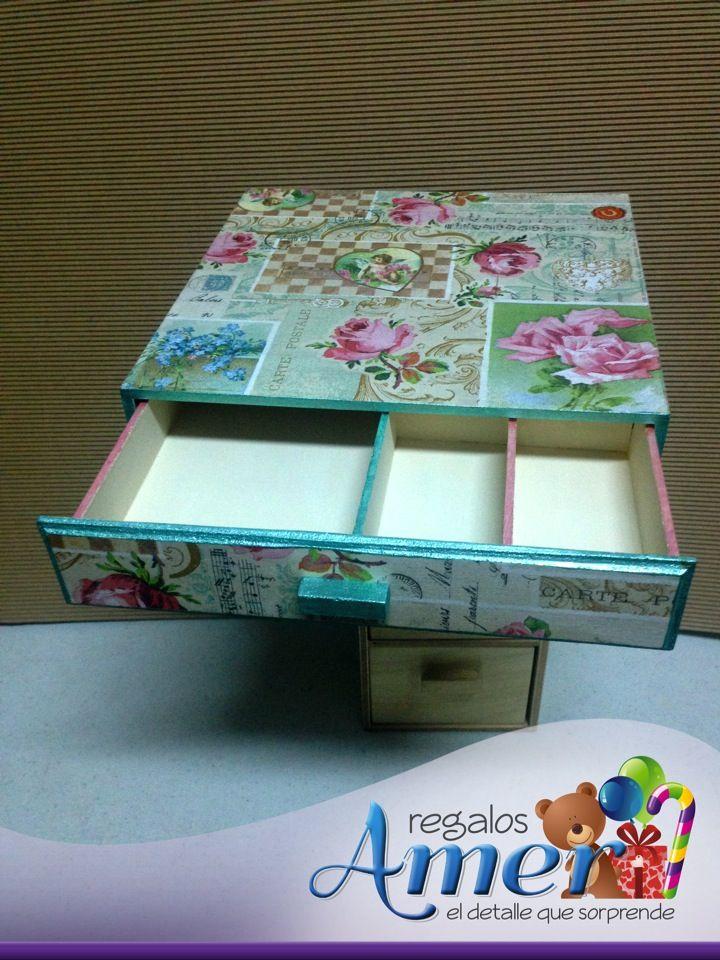 Cajas madera decoradas decoupage regalos amer mam - Cajas de madera decoradas ...
