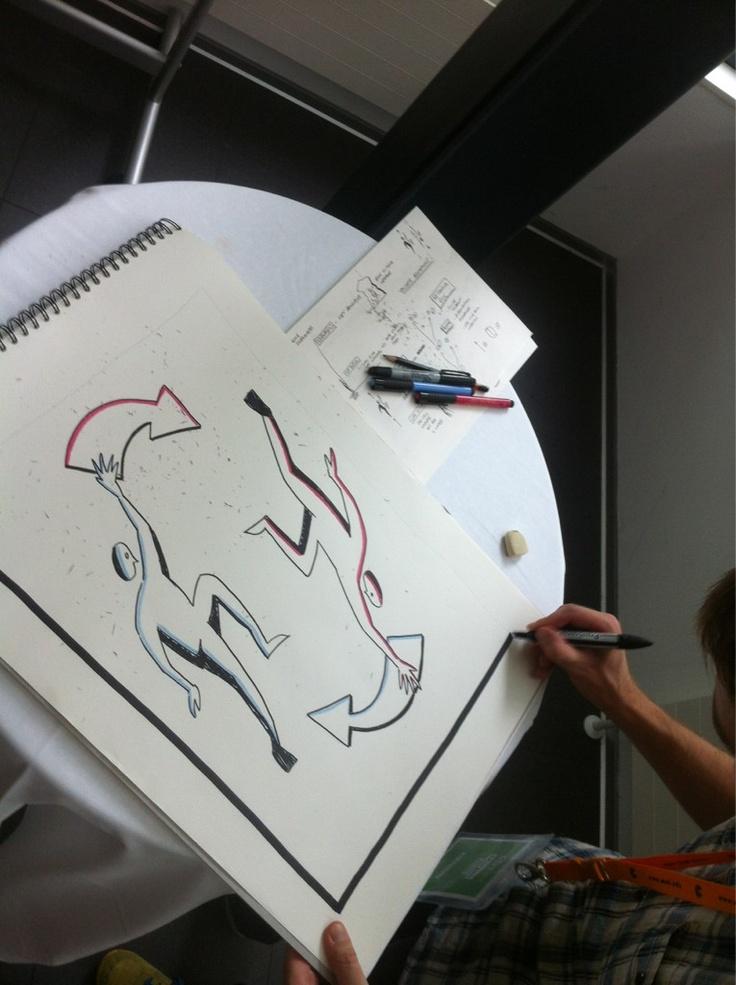 Live doodling by @morganritchie of @wearehuman