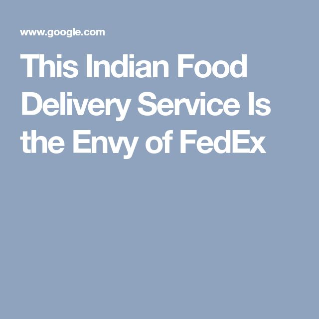This Indian Food Delivery Service Is the Envy of FedEx