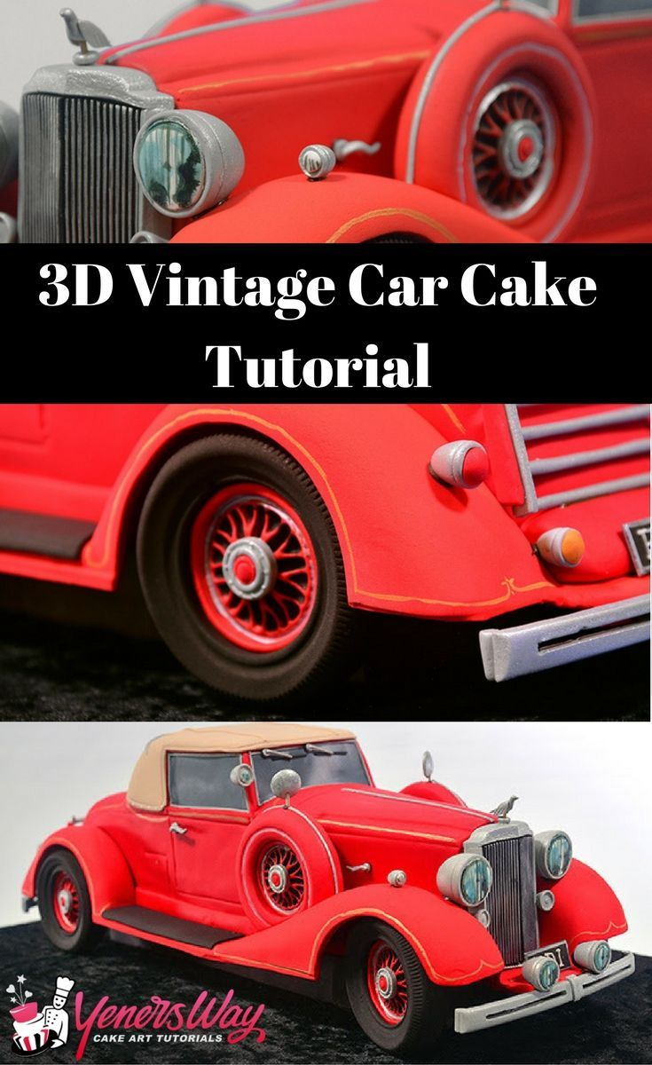 Learn to make a 3D vintage car cake in this tutorials. The details on this cake are simple amazing #cake #car #howto #tutorial #cakedecoraring