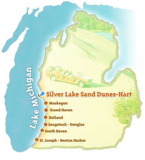 Silver Lake Sand Dunes-Hart ~ Michigan Beachtowns