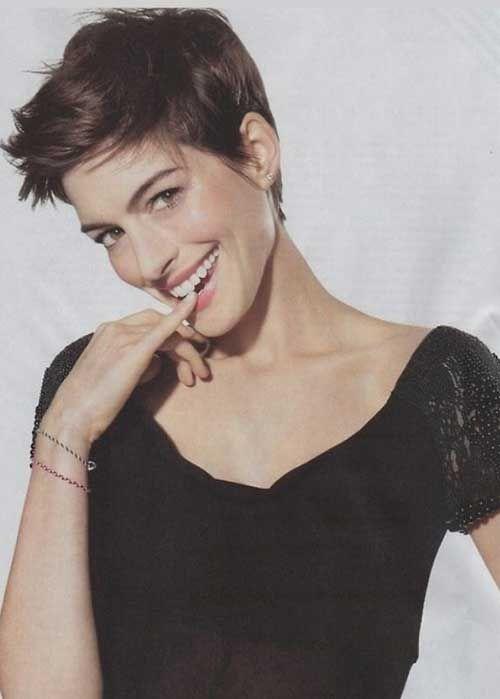 11.Anne Hathaway Pixie Haircut