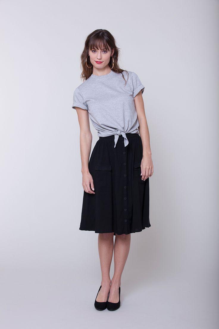 Seamwork Style: Zinnia skirt + Jane T-shirt