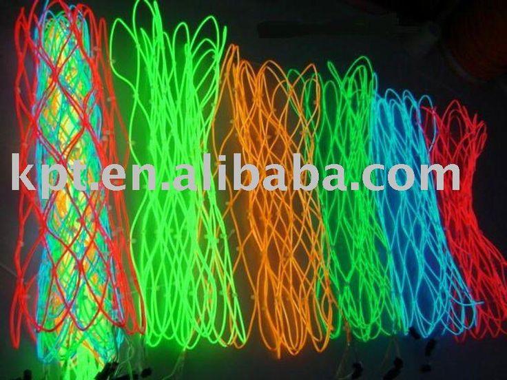 Fio EL brilhante colorido para o festival  http://www.justleds.co.za
