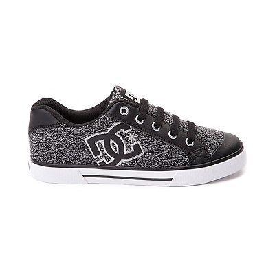 New Womens DC Chelsea TX SE Skate Shoe Black Gray Logo Shoes Skate - http: