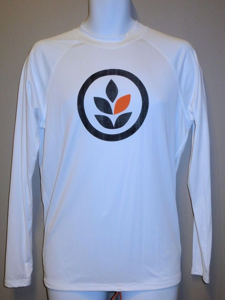 MENS SMALL EVER BRAND WHITE SCREEN LOGO LONG SLEEVE SURF SHIRT NEW #Ever #GraphicTee