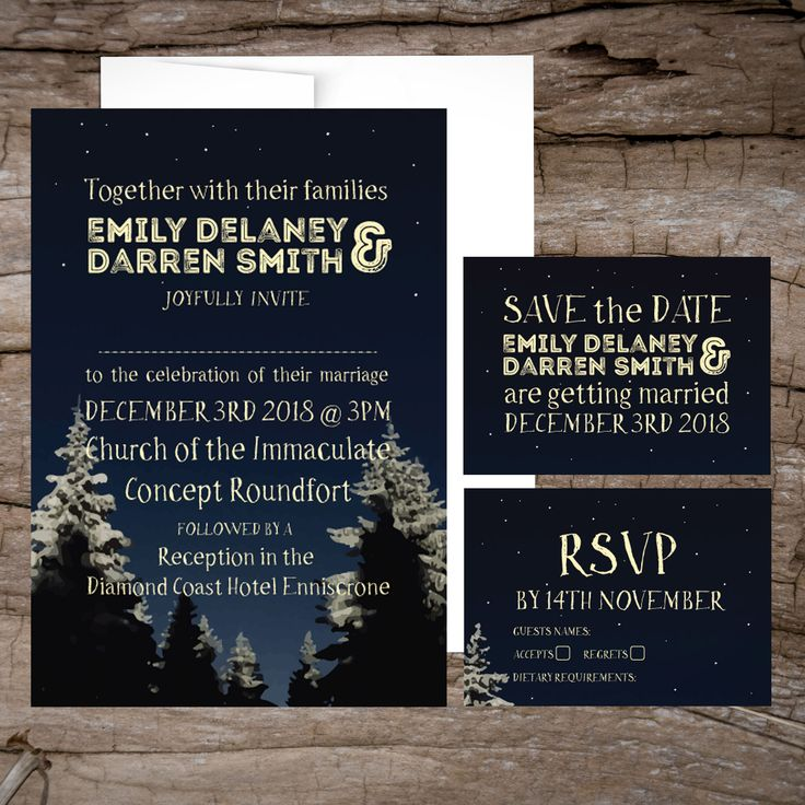 Winter Wonderland Wedding InvitationsWedding Invitations to start your exciting adventure together