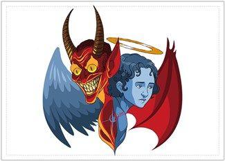 Melekler ve Şeytanlar Kendin Tasarla - Posta Kartı