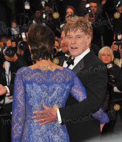 """Robert Redford & wife Sibylle Szaggars at gala premiere for his movie """"All…"""