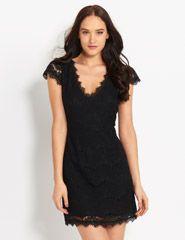 Violetta V-Neck Lace Dress