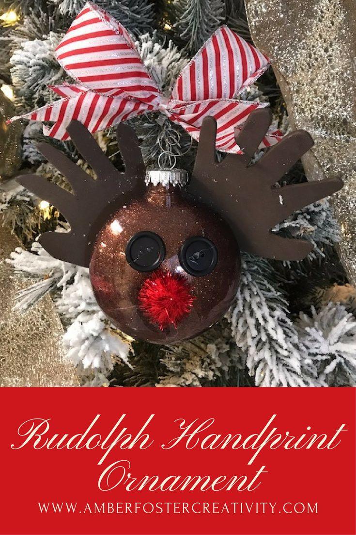 The perfect keepsake hand-print ornament!