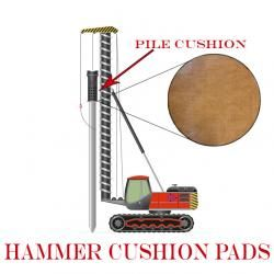 I think it is Hammer Time! Pile drivers use a hammer to pound piles into the ground. They also need a hammer cushion pad to protect the equipment and the pile. Canvas Phenolic and Cast Nylon Sheet are the two most popular materials used for these pile cushions.