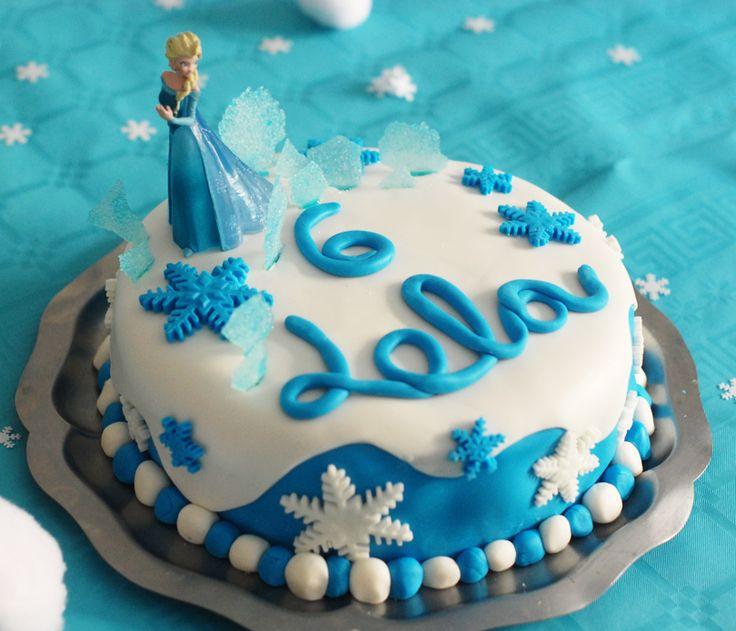 Gteau d'anniversaire Reine des neiges