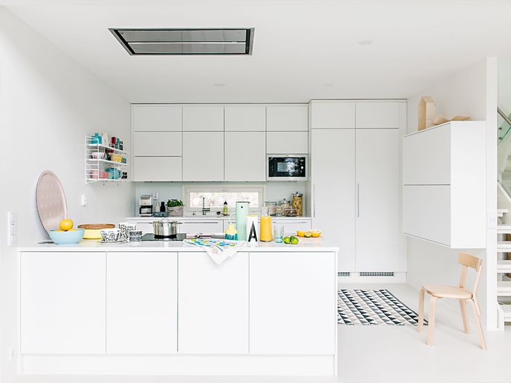 Kosketus valkoinen keittio iso